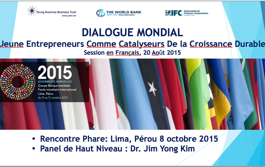 Youth participation within the framework of the Annual Meetings of the World Bank and International Monetary Fund