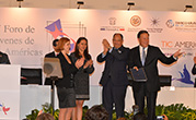Youth presented the IV Forum Declaration to the Presidents